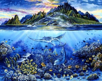 Fish Aquarium Painting - amh0035D modern seabed world ocean