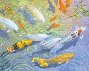 Fish Aquarium Painting - amh0046e1 modern seabed world