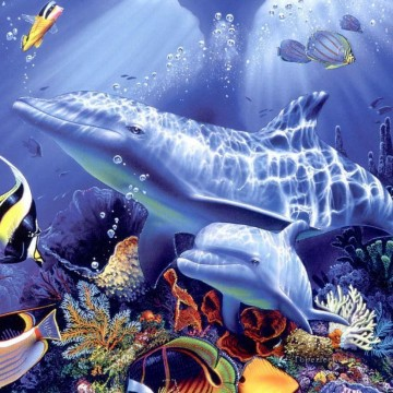 Fish Aquarium Painting - d dolphin