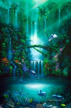 Fish Aquarium Painting - Enchanted Pool under sea