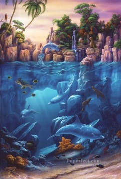 Fish Aquarium Painting - Lagoon under sea