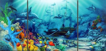 Fish Aquarium Painting - Ocean Treasures under sea