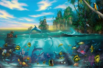 Fish Aquarium Painting - Paradise found under sea