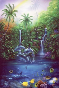 Fish Aquarium Painting - Return to Paradise under sea