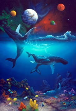Universal Harmony under sea Oil Paintings