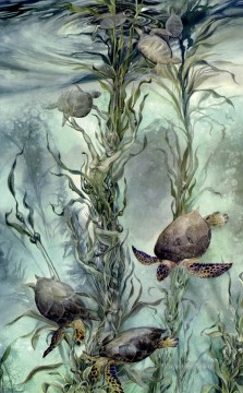Fish Aquarium Painting - silent depths ocean