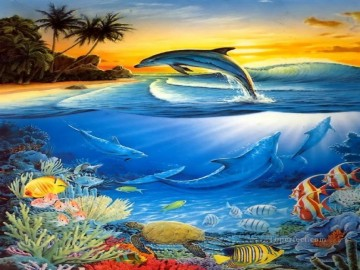 Fish Aquarium Painting - DOLPHIN 5