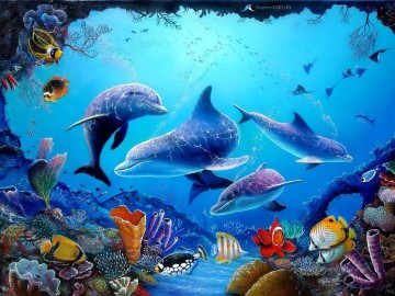 Fish Aquarium Painting - dolphin 3