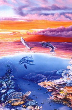 dolphin divers dream Oil Paintings