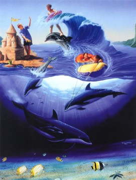 Fish Aquarium Painting - fantasy JW 29 ocean