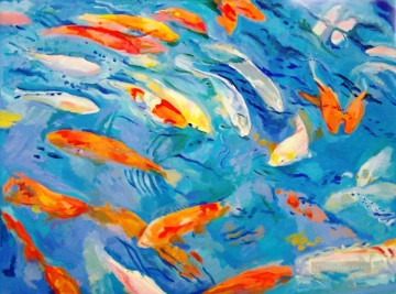 Fish Aquarium Painting - seabed fishes