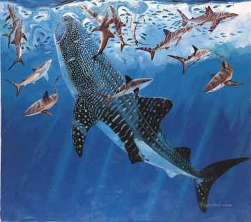 Fish Aquarium Painting - GH Art Whale Shark