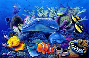 Fish Aquarium Painting - dolphin 2