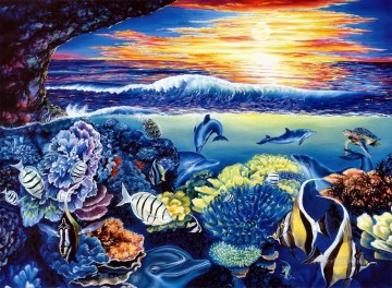 Fish Aquarium Painting - dolphin 4
