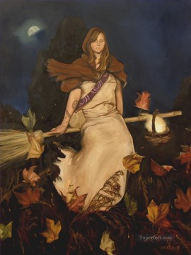 Melissa The Witch Girl Oil Paintings