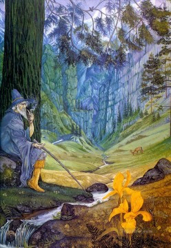 garlands of fantasy middle earth gandalf sybil Oil Paintings