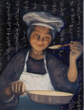 soup kitchen witch Oil Paintings