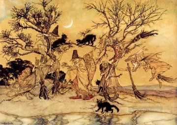 The Witches Sabbath illustrator Arthur Rackham Oil Paintings