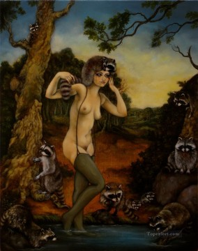 raccoons sybil Oil Paintings