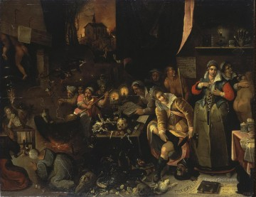 Francken Frans II ZZZ Witches Kitchen Oil Paintings