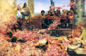 The Roses of Heliogabalus Sir Lawrence AlmaTadema classical flowers Oil Paintings