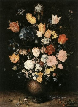 flower flowers floral Painting - Bouquet Of Flowers Jan Brueghel the Elder flower
