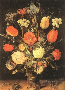 flower flowers floral Painting - Flowers Flemish Jan Brueghel the Elder flower