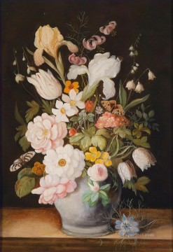 Classical Flowers Painting - Flowers in Jar Flowering