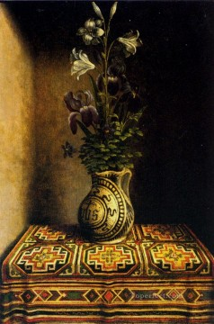 Classical Flowers Painting - Marian Flowerpiece religious Netherlandish Hans Memling flower