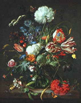 flower flowers floral Painting - Vase Of Flowers Jan Davidsz de Heem flower