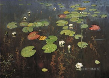 Water lilies Isaac Levitan flowers Oil Paintings