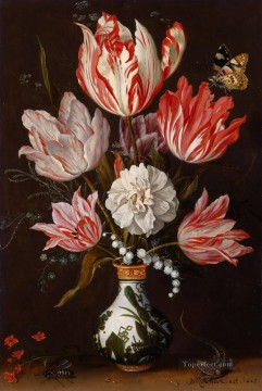Bosschaert Ambrosius A Still Life of Tulips and other Flowers Oil Paintings