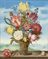 Bosschaert Ambrosius Bouquet of Flowers on a Ledge Sky