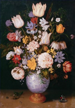 Classical Flowers Painting - Bosschaert Ambrosius Bouquet of flowers in a Chinese vase