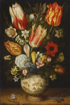 Bosschaert Ambrosius Flowers Porcelain Jar Oil Paintings