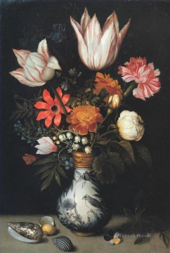 Classical Flowers Painting - Bosschaert Ambrosius Flowers Shells