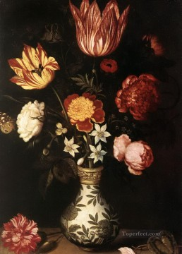 Flowers Painting - Bosschaert Ambrosius Flowers in China Vase