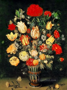 Flowers Painting - Bosschaert Ambrosius Flowers in Vase