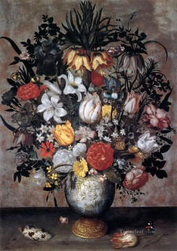 Classical Flowers Painting - Bosschaert Ambrosius Flowers in a Chinese Vase