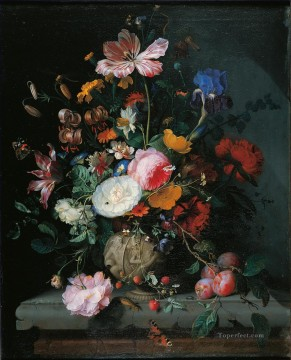Flowers Painting - Bosschaert Ambrosius Flowers on Table
