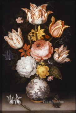 Flowers Painting - Bosschaert Ambrosius Still Life with Flowers in a Porcelain Vase