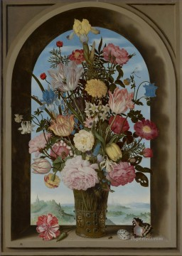 Classical Flowers Painting - Bosschaert Ambrosius Vase of Flowers in a Window