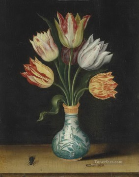 Bosschaert Ambrosius tulips in a wan li vase Oil Paintings