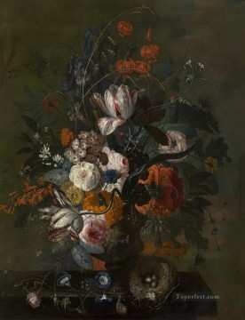 Bouquet of Flowers 2 Jan van Huysum classical flowers Oil Paintings
