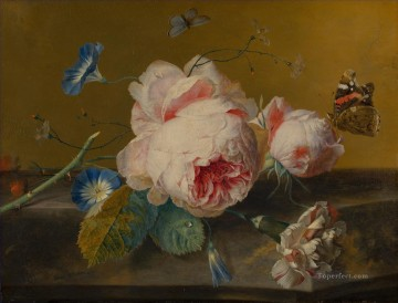 Flower Still Life Jan van Huysum classical flowers Oil Paintings