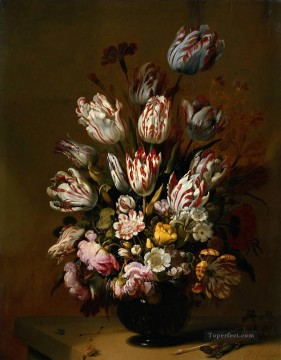 Classical Flowers Painting - Hans Bollongier Stilleven met bloemen Flowering