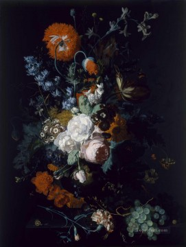 Still Life of Flowers and Fruit Jan van Huysum classical flowers Oil Paintings