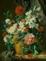 Stilleven met bloemen fowers in pot Jan van Huysum classical flowers