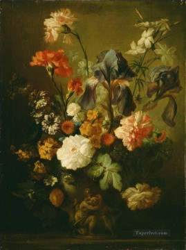 Vase of Flowers 3 Jan van Huysum classical flowers Oil Paintings