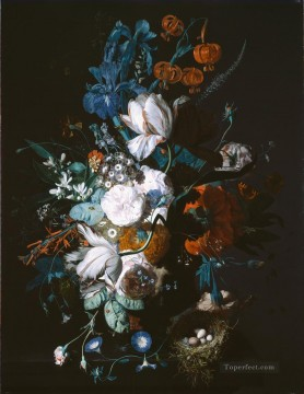 Vase with Flowers Jan van Huysum classical flowers Oil Paintings